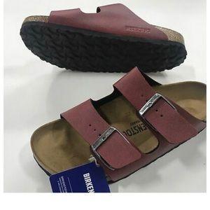 7d12f464472b Birkenstock Shoes - Birkenstock Arizona Birko-Flor Pull Up Bordeaux